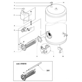 Ariston - Repuestos de cilindro 500ST6 / 500STT6