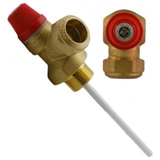 """Altecnic - 10 Bar 3/4 """"90 ° C Valvola limitatrice di pressione e temperatura"""