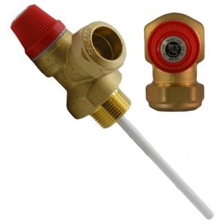 """Altecnic - 7 Bar 3/4 """"90 ° C Valvola limitatrice di pressione e temperatura"""