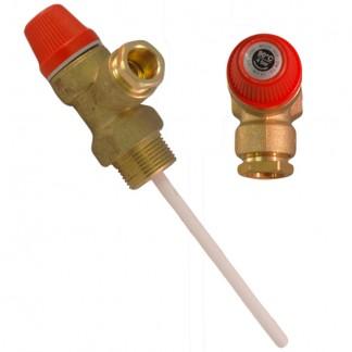 """Altecnic - Caleffi 4 Bar 3/4 """"x 15mm 90 ° C Valvola limitatrice di pressione e temperatura"""