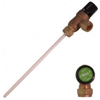 Reliance - 7 Bar TPR15 15mm x 15mm Valvola limitatrice di pressione e temperatura 90-95 ° C Sonda 200mm