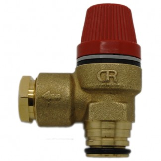 Altecnic - Caleffi 6 Bar Pushfit Safety Relief Valve for Manifold 312469