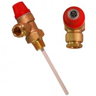 """Altecnic - Caleffi 4 Bar 1/2 """"90 ° C Valvola limitatrice di pressione e temperatura 309440"""