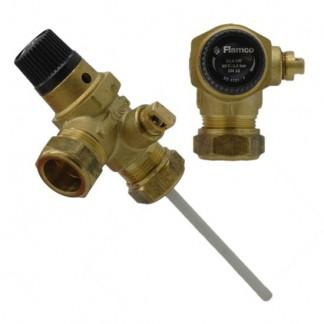 Flamco - Valvola limitatrice di pressione e temperatura da 3,5 bar 22 mm 97783224