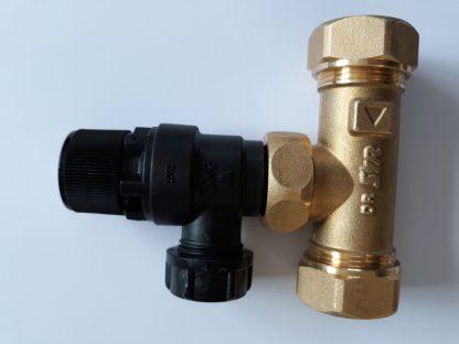 Heatrae Sadia Megaflo 22mm Tee / 6 Bar Pressure Relief Valve 95607030 / 95605893 p2