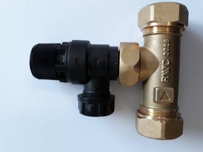 Heatrae Sadia Megaflo 22mm Tee / 6 Bar Pressure Relief Valve 95607030 / 95605893 p4